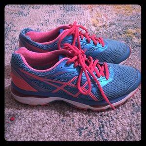 ASICS blue running shoes
